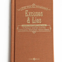 Excuses & Lies For All Occasions Book - $9.00 : ThreadSence.com, Your Spot For Indie Clothing & Indie Urban Culture