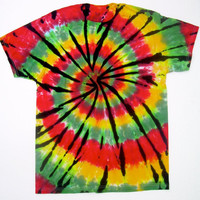 Rasta Spiral Tie Dye Shirt/ Adult Medium