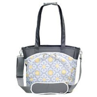JJ Cole Mode Diaper Tote Bag, Lemon Posy