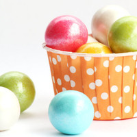 Orange Polka Dot Candy Cups (Set of 20) - SmashCake Studio