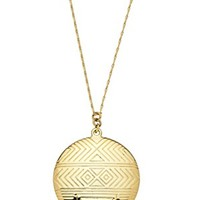 House of Harlow 1960 Jewelry Medallion Locket Necklace Gold