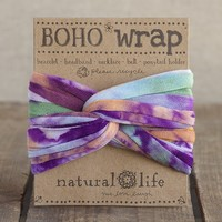 Orange,  Purple  &  Green  Tie-Dye  Boho  Wrap  From  Natural  Life