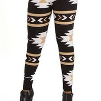 Fancy Fans Navajo Printed Leggings PT134-F123