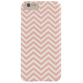 Girly Peach Chevron Stripes iPhone 6 Plus Case
