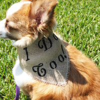 "Burlap Wedding ""I Do Too!"" Dog Bandanna"
