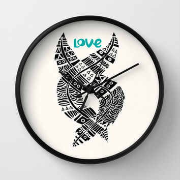 United Love Wall Clock by Pom Graphic Design