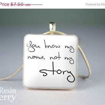 ON SALE: phrase jewelry pendant,quotes resin pendants,art scrabble tile pendant,grace photo charm- P0991SI