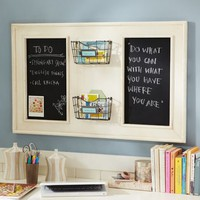 Vintage Chalkboard Organizer