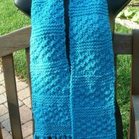 CIJ - Hand Knit Scarf - The Textile Scarf - Knitted Scarf - Unisex scarf - Fall, Winter accessories - Christmas in July