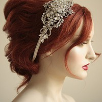 NOAH Style 002 Handbeaded Crystal headband by bridalcouture