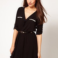 Oasis 2 In 1 Shirt Dress at asos.com