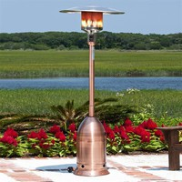 Fire Sense 60697 Copper Finish Deco Commercial patio heater - Outdoor Living Showroom