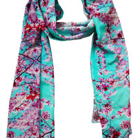 Cherry Blossom Silk Scarf