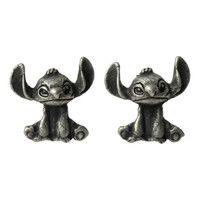 Disney Lilo Stitch Burnished Silver Earrings