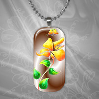 Summertime Floral Glass Pendant