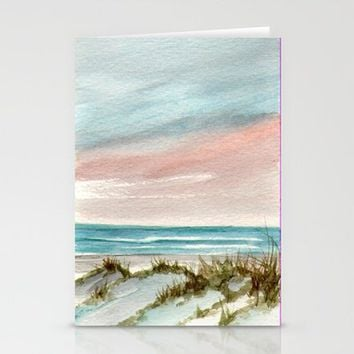 Soothing Sunset Seascape Stationery Cards by Rosie Brown | Society6