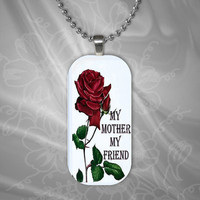 My Mother My Friend Glass Pendant