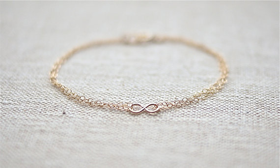 SHIP FREE Double Chain Infinity Bracelet (Gold Filled)