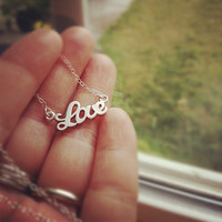 Silver Tiny Love Necklace