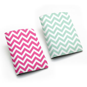 Chevron PU Leather Passport Holder Case Cover Travel Wallet, many colors [P01]