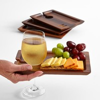 Wine and appetizer block tray
