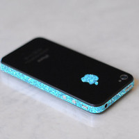 iPhone 4S Antenna Wrap (Sparkling Turquoise)