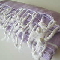 Turkish bath towel - peshtemal - Bath and Beauty - Bathroom Home - baby bath towel - cotton - fashion gifts - body wash - spa - liliac