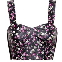 LOVE LEATHER | Floral Leather Bralet | Browns fashion & designer clothes & clothing