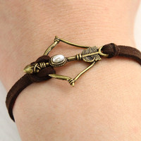 Disney Brave Inspired Merida Bow leather bracelet