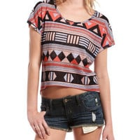 Open-Stitch Tribal Hi-Low Tee