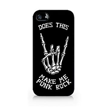 Does This Make Me Punk Rock - Skeleton - iPhone 5/5S Black Case
