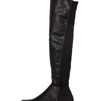 Contrast Over-The-Knee Boots - Black /