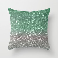 Mint and Gray Throw Pillow by Lisa Argyropoulos | Society6