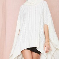 Nasty Gal Cool It Cape Sweater