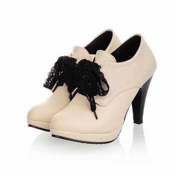 Charm Foot Fashion Wmens Platform High Heel Ankle Boots