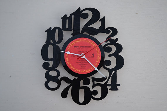 Vinyl Record Album Wall Clock (artist is The Bruce Springsteen)
