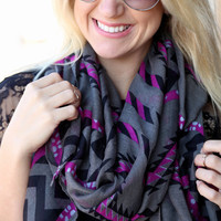 Tribal Scarf {Gray}