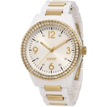 ESPRIT Women's ES105212003 Marin Disco Gold Analog Watch - designer shoes, handbags, jewelry, watches, and fashion accessories | endless.com