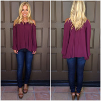 Cynthia Off Shoulder Top - PLUMB