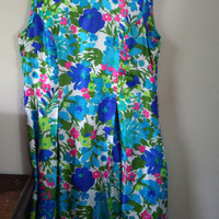 Mod Floral Dress Plus Sized RESERVED
