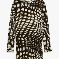Giraffe Print L/S Shift Dress