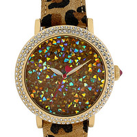 ROCK CRYSTAL LEOPARD WATCH LEOPARD