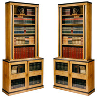 1STDIBS.COM - Christopher Hodsoll - TWO Pairs of Bookcases After Sir John Soane
