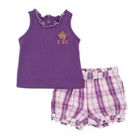 "Coogi ""CG Plaid"" 2-Piece Outfit (Sizes 0M - 9M)"
