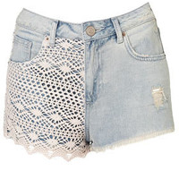 MOTO Bleach Crochet Hotpants - Shorts  - Apparel