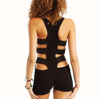 cut-out-fitted-romper BLACK - GoJane.com