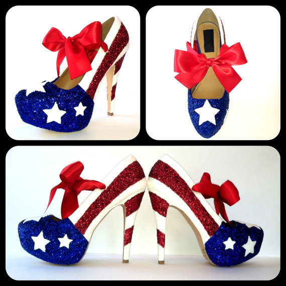 Miss America Glitter High Heels