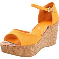 Rockport Women`s Haylyn Wedge Sandal,Orange,8.5 M US