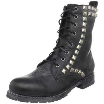FRYE Women`s Rogan Studded Lace Tall Boot,Black,6.5 M US
