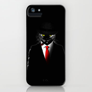 Mobster Cat iPhone & iPod Case by Nicklas Gustafsson